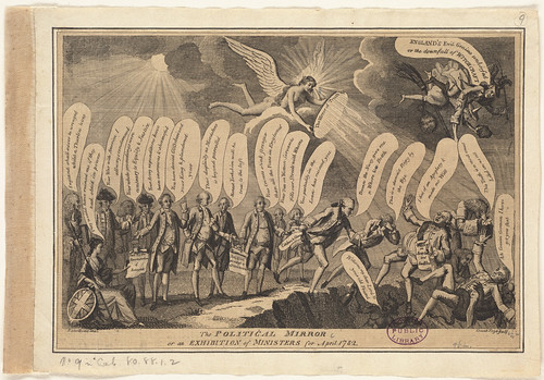 The political mirror or an exhibition of ministers for April 1782