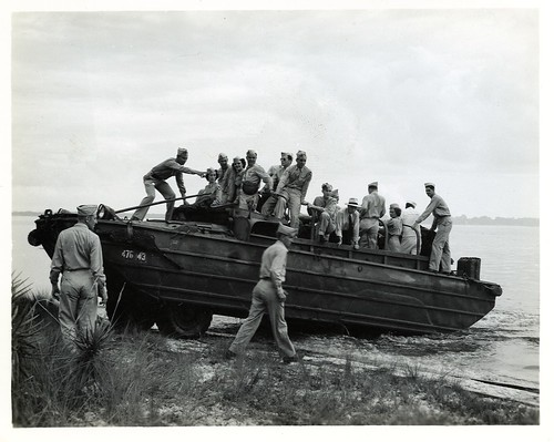 160 DUKW at Tyndall Field, Florida WWII