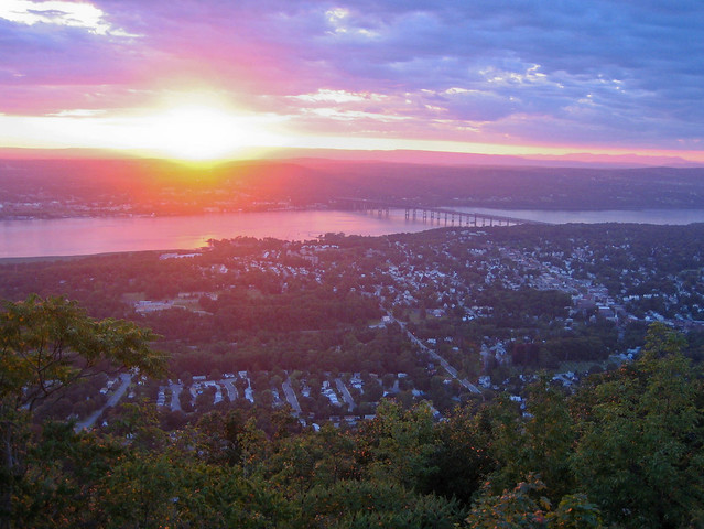 The town of Beacon as seen from the top of Mount Beacon.