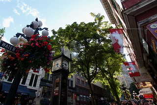 Image of Gastown Steam Clock near West End.