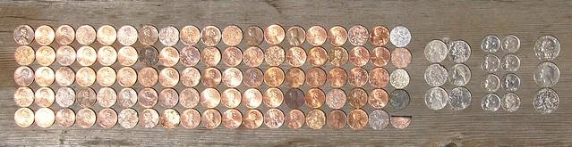 found coins