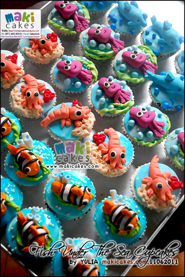 Fish & Under The Sea Cupcakes - Maki Cakes Flickr ...