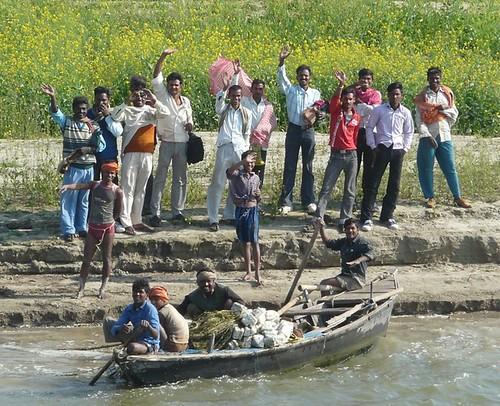 people india colour river boat riverside greeting ganga ganges bihar patna buxar