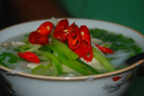 pickled chilis on pho