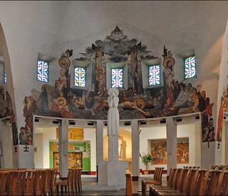 Bilde av Église Sainte-Jeanne-d'Arc. france nice dalbera artsacré eglisesaintejeannedarc jacquesdroz voiledebéton charlessarrabezolles