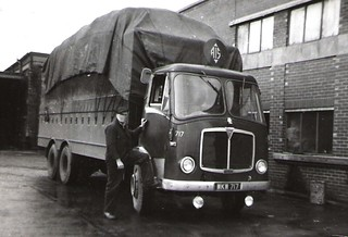 11,  AIS. AEC Night trunker  717, Open Top For Loading And Top Loads. at the Bradford depot.