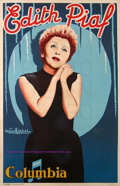Girbal Edith Piaf label Columbia 78X120 Girbal
