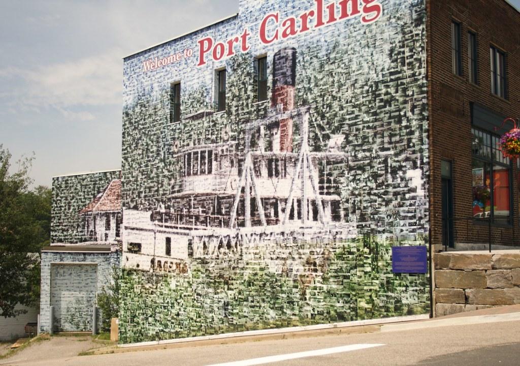 Mural in Port Carling