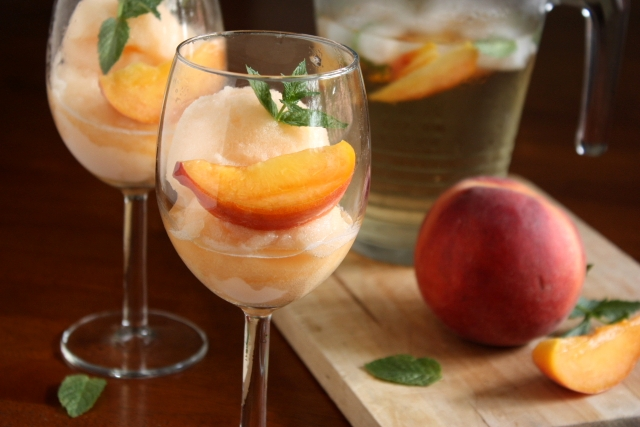Peach Sangria Sorbet | Flickr - Photo Sharing!