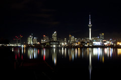 Auckland City at night {Explored}