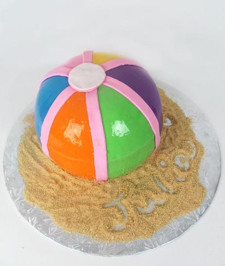 Brilliant Beachball Birthday Cake Birthday Girls Name Written In Th Flickr Birthday Cards Printable Benkemecafe Filternl