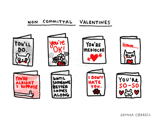 non-committal valentines
