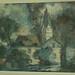 010719 Kirche mit Bäumen und Haus im Vordergrund