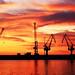 Small photo of Sunrise in Bari harbour