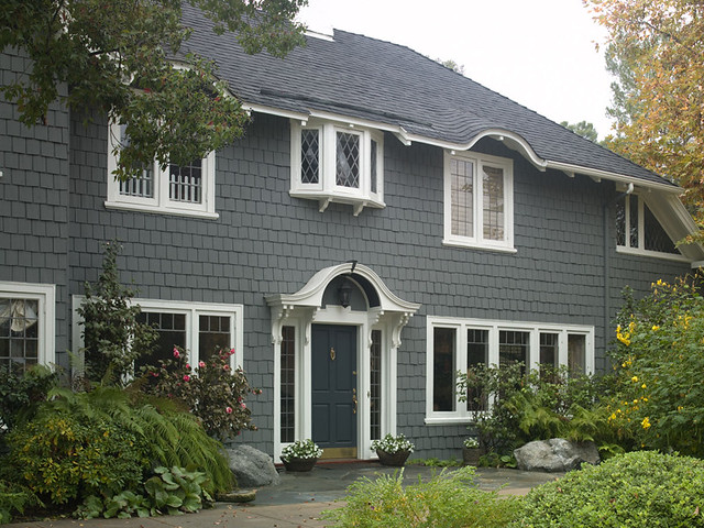 Traditional gray flickr photo sharing - Behr exterior paint ideas property ...