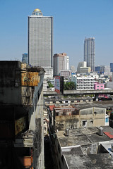 Bangkok : View from Sathorn Unique abandoned skyscraper