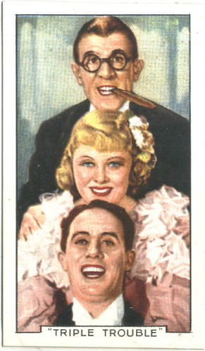 24 Mary Carlisle & Wheeler and Woolsey (Triple Trouble)_Gallaher (Famous Film Scenes; 24)