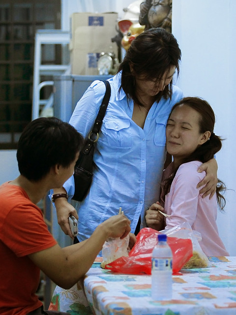 NSPs Nicole Seah getting a hug from her mum | Flickr - Photo Sharing!
