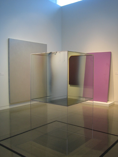 Untitled, 1967, Coated Glass, Plexiglass, and Metal Stripping, Larry Bell, Oakland Museum of California _ 9502 by Matthew Felix Sun