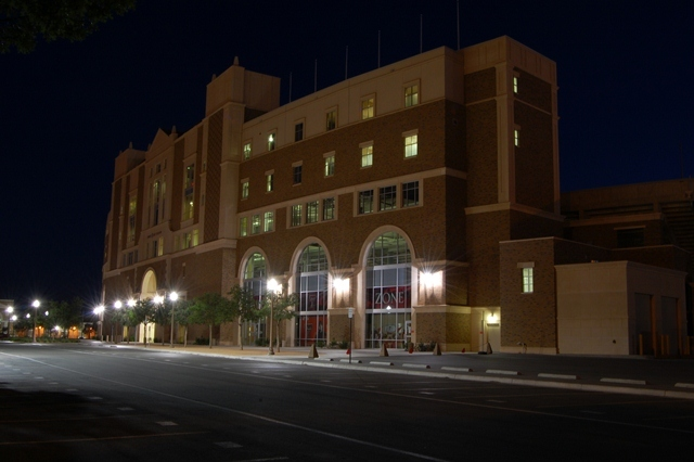 Jones Stadium at Night
