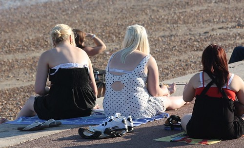 Dymchurch - The Hottest October Day on Record - Oct 2011 - Candid Girls - Twang!