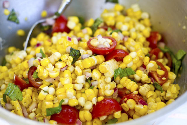 fresh corn salad | Flickr - Photo Sharing!