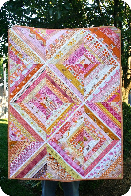 String Of Lights Quilt Pattern : Violet s string quilt Flickr - Photo Sharing!