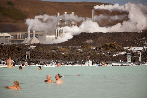 People Relaxing At the Blue Lagoon