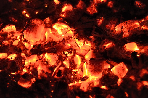 Incandescent charcoal