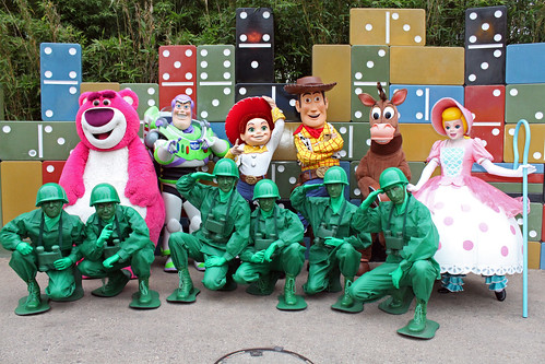 Meeting the Toy Story gang