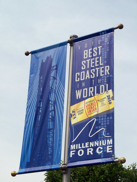 Cedar Point - Millennium Force Best Steel Coaster Banner