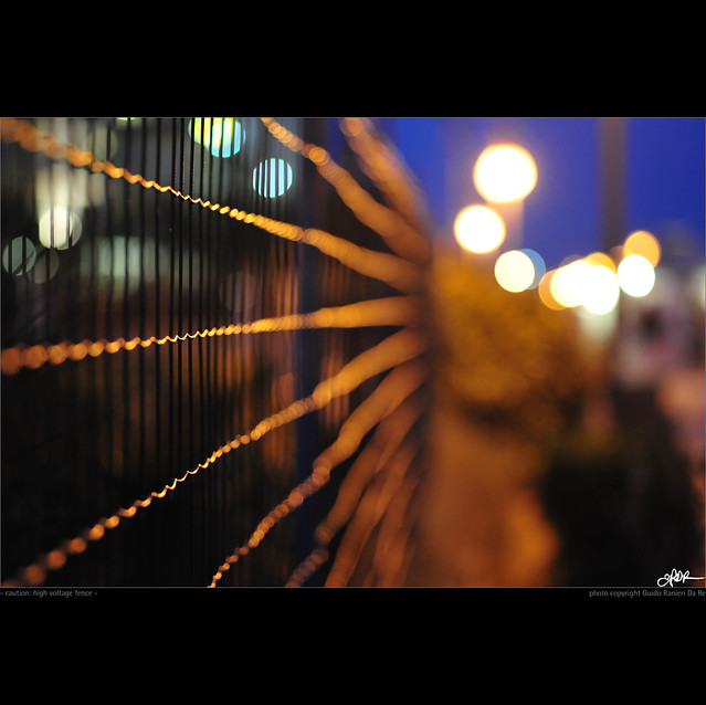 caution: high voltage fence