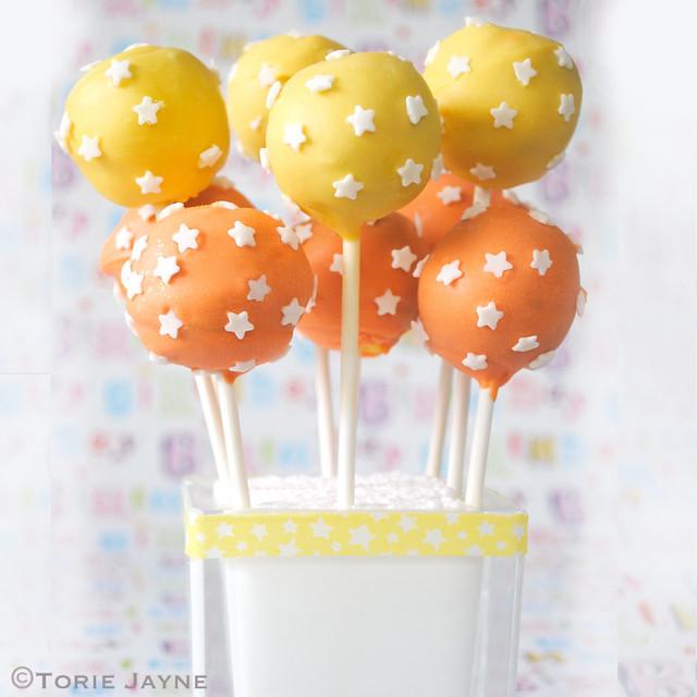 Starry Fruit cake pops