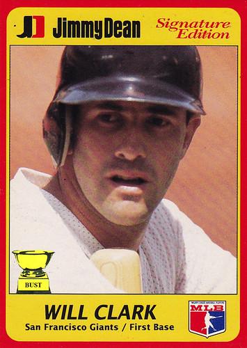 Baseball Card Bust Will Clark 1991 Jimmy Dean Signature