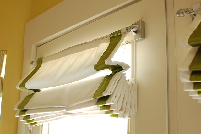 roman shades on french doors | Flickr - Photo Sharing!