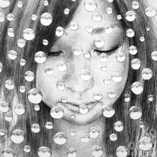 女51(部分)  Woman 51 (part) - raindrops