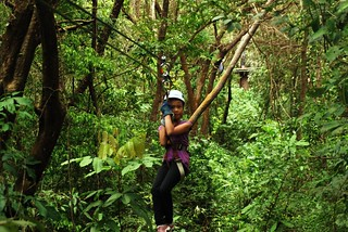 Zip lining in Costa Rica
