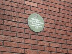 Photo of William Thompson green plaque