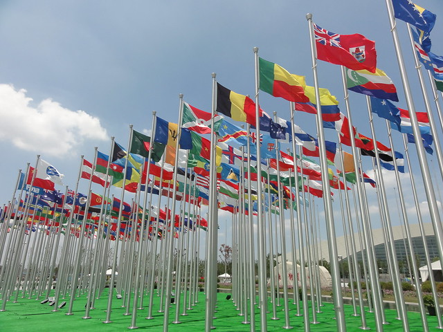 The Forest of Flags at the Shanghai 2011 World Championships