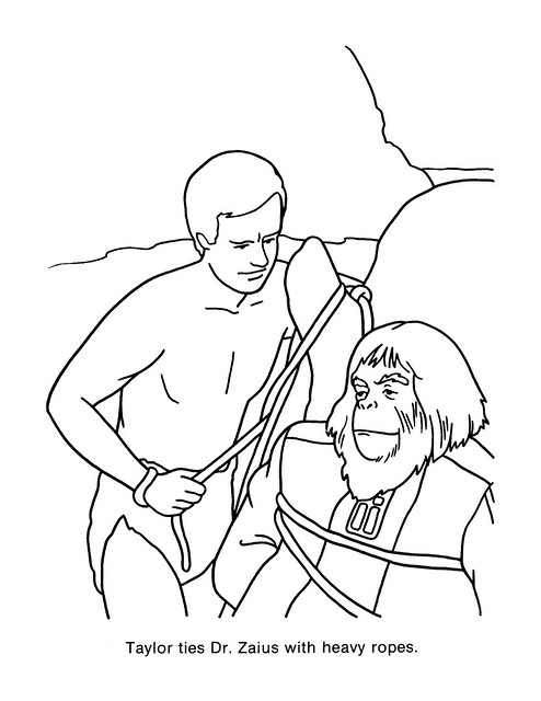 Planet of the Apes Coloring Book 0200054