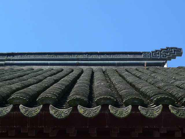 Roof detail in the Chinese garden