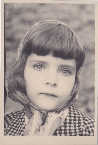 Found Photo-Germany-Big Eyed Girl