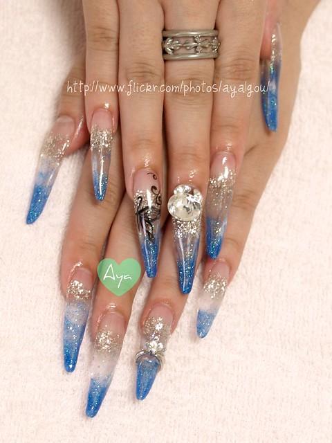 Blue Long Nails Flickr Photo Sharing