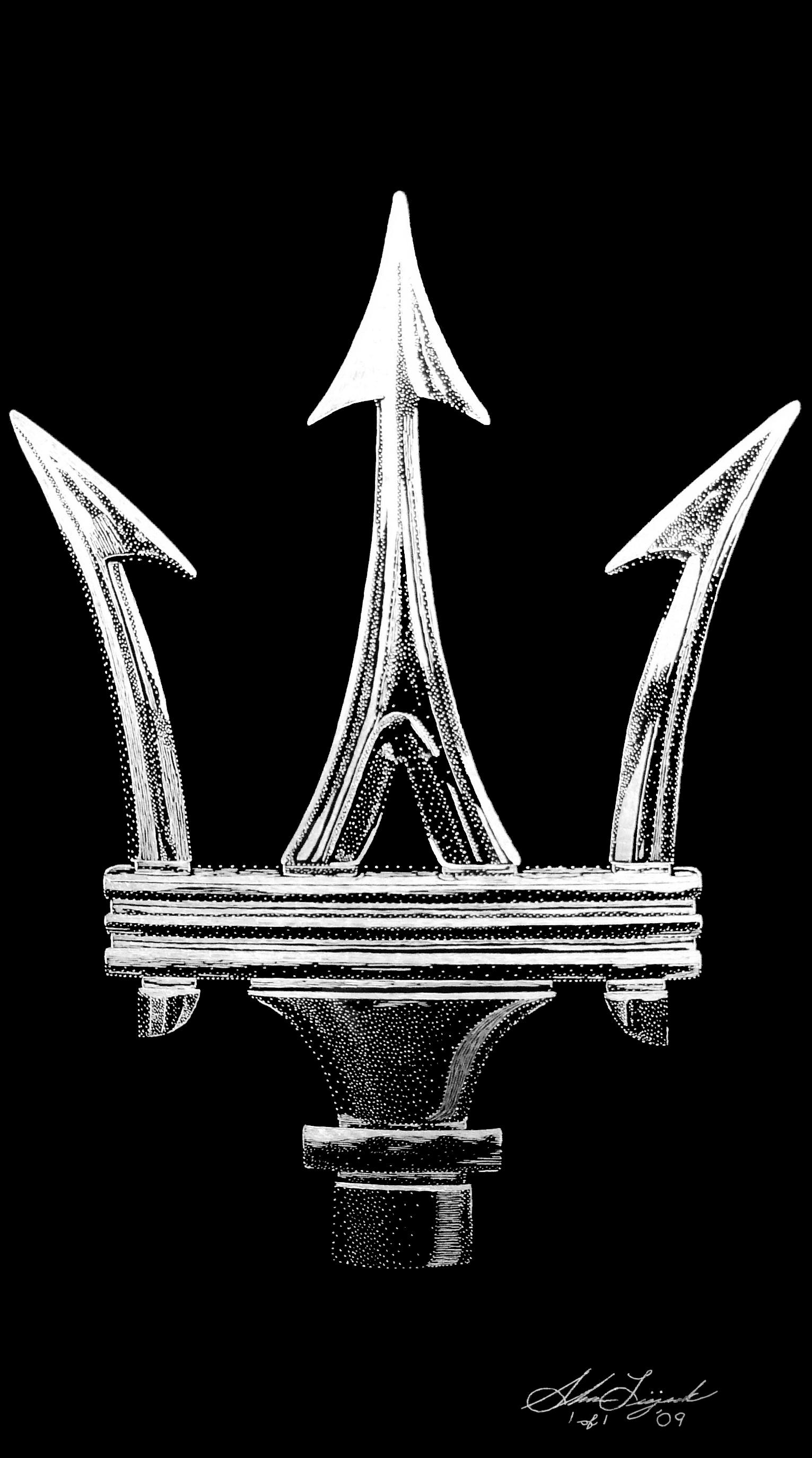 Car Logos With Flags Maserati Logo Flag Original