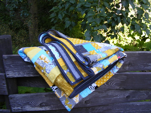 completed Bee quilt folded