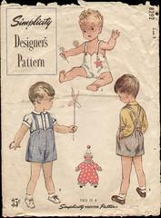Simplicity 8292 1950 Toddler Sun Suit