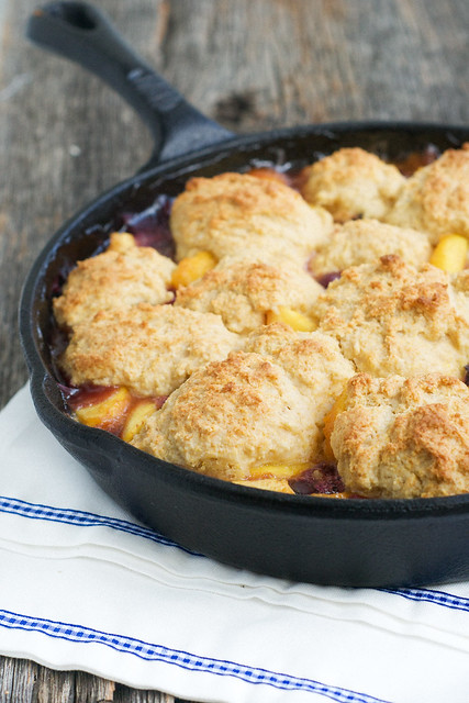 Nectarine Blueberry Cobbler