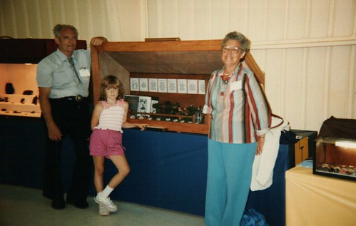 me, my grandparents, and the thingie my grandpa made for the fair