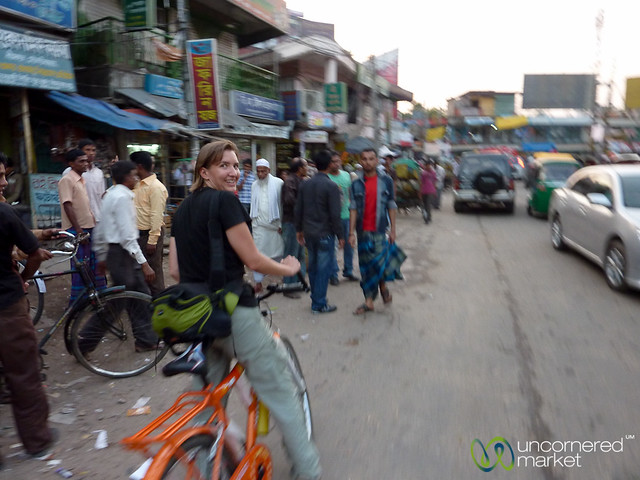 Audrey Rides Bike Through Srimongal - Bangladesh