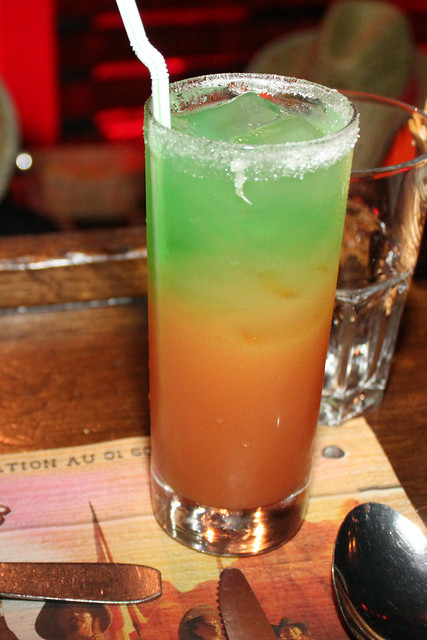 Funky drink at Buffalo Bill's Wild West Show with Mickey and Friends